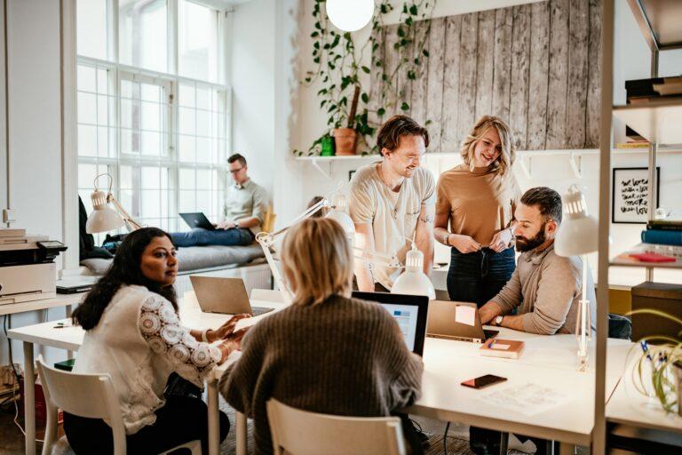 Rustic Office Meeting