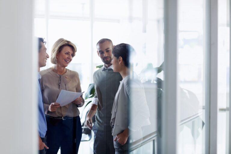 Businesswomen Discussion